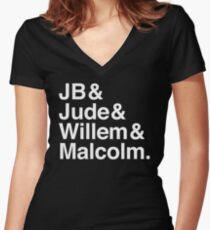 A LITTLE LIFE book JB & Jude & Willem & Malcolm (in white) Women's Fitted V-Neck T-Shirt