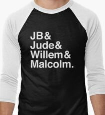 JB & Jude & Willem & Malcolm (in white) Men's Baseball ¾ T-Shirt
