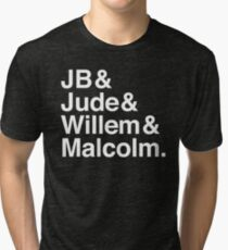 A LITTLE LIFE book JB & Jude & Willem & Malcolm (in white) Tri-blend T-Shirt