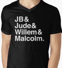 A LITTLE LIFE book JB & Jude & Willem & Malcolm (in white) Men's V-Neck T-Shirt