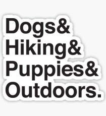 dogs & hiking & puppies and coffee Sticker