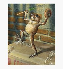 Dancing 'Poor Man' Toad, acrylic painting Photographic Print