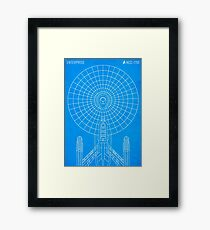Star Trek - Faux Enterprise Blueprint Framed Print