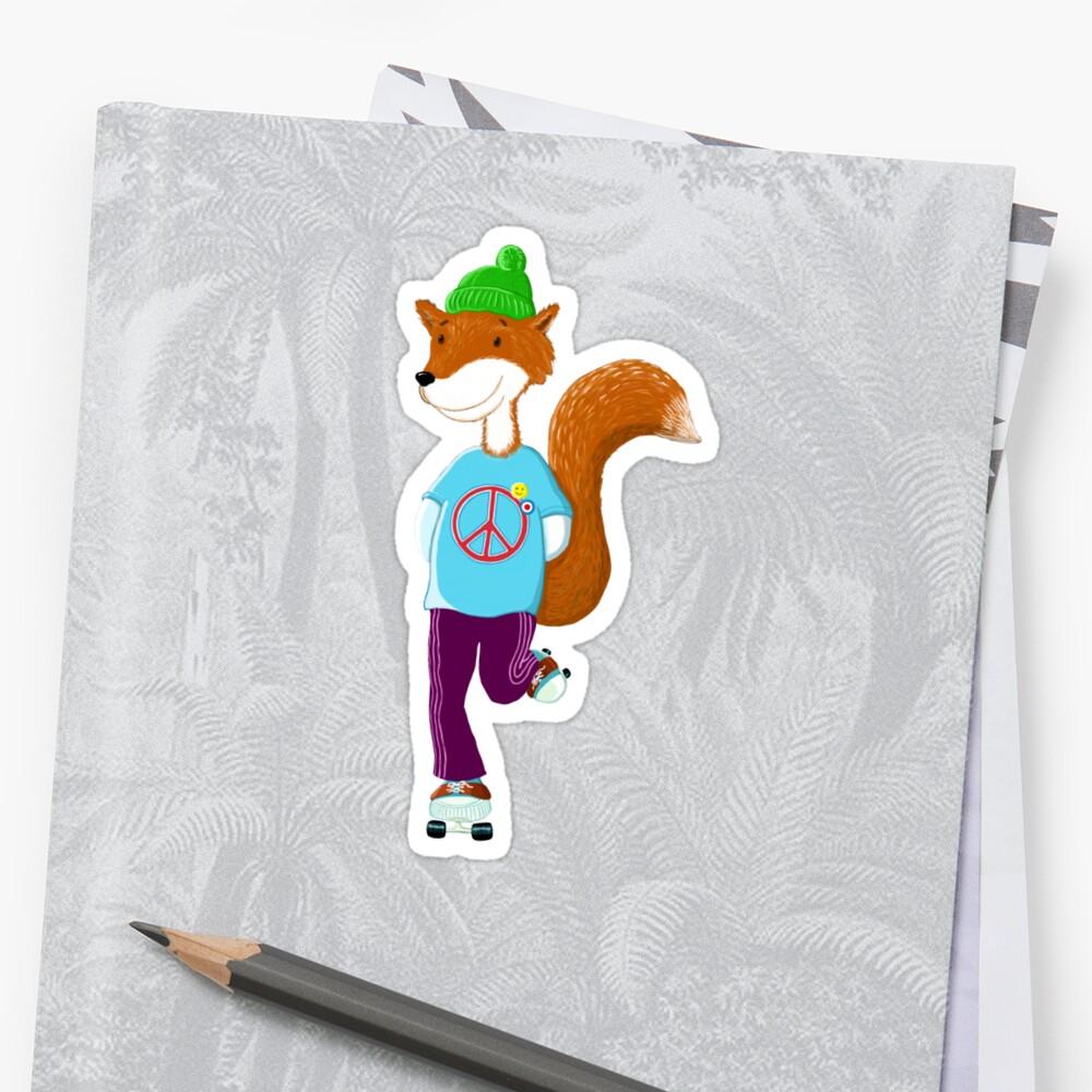 Groovy Rollerskating Fox by brodyquixote