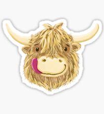 Happy Kids Scottish Highland Cow Sticker