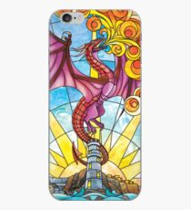 The Fey Man Stained Glass Dragon iPhone Case