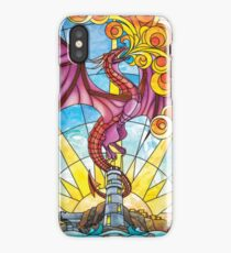The Fey Man Stained Glass Dragon iPhone Case/Skin