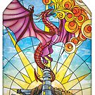The Fey Man Stained Glass Dragon by James T Kelly