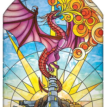 The Fey Man Stained Glass Dragon by realjtk