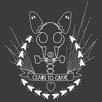 Claws To Grave Halloween Bull Terrier Skull Bones White by Ejmckinney19