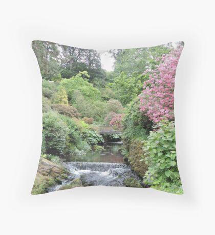 The Japanese Bridge Throw Pillow