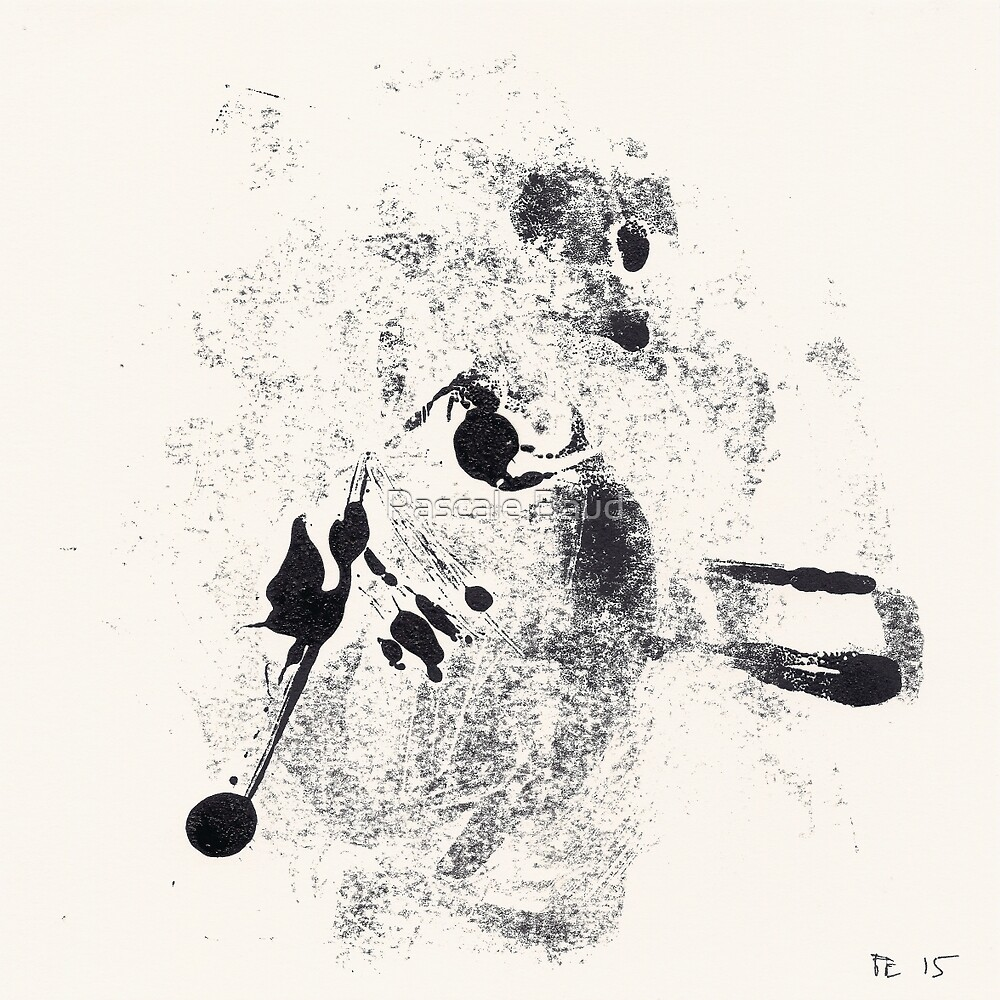 Typographical Grenades #4 - Monotype by Pascale Baud