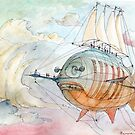 The Flying Fish! by Luca Massone  disegni