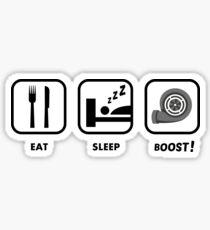 JDM sticker - EAT SLEEP BOOST Sticker