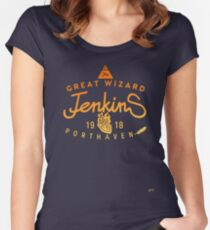 THE GREAT WIZARD JENKINS - burning heart Women's Fitted Scoop T-Shirt