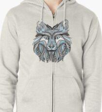 Winter wolf Zipped Hoodie