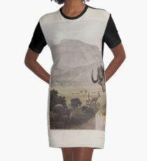 African Scenery and Animals Samuel and William Daniell 1804 0017 The Gnoo_jpg Graphic T-Shirt Dress