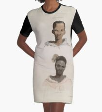 African Scenery and Animals Samuel and William Daniell 1804 0047 Hottentot and Kaffre_jpg Graphic T-Shirt Dress