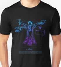 Vitruvian Artist - Blue and Black Series Unisex T-Shirt