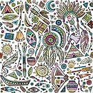 Tribal Symbols assortments colorful pattern by artonwear