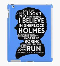 BBC Sherlock Holmes Quotes iPad Case/Skin