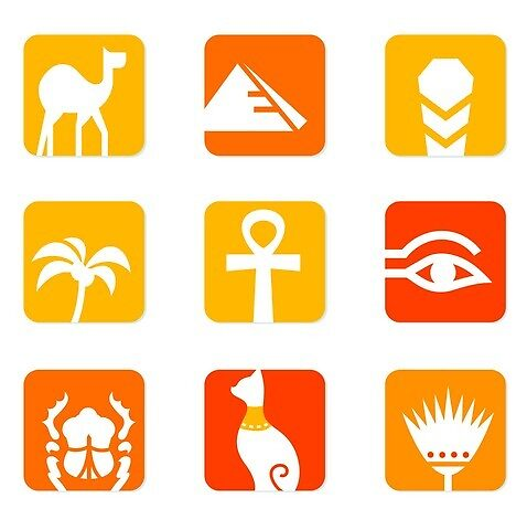 Egypt icons by HieroShirt