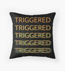 TRIGGERED Throw Pillow