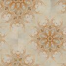 Autumn Mandala Fluffy Khaki 1 by Edward Huse