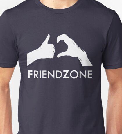 Friendzone (white text) Unisex T-Shirt