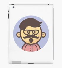 Mini Characters - Hipster Man iPad Case/Skin
