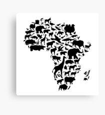 Tiere von Afrika Leinwanddruck