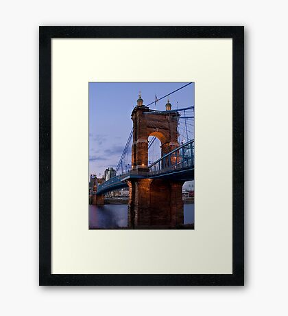 John A Roebling Bridge 1867 Framed Print