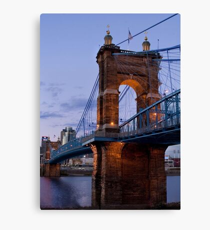 John A Roebling Bridge 1867 Canvas Print