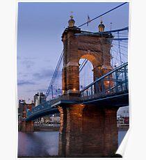 John A Roebling Bridge 1867 Poster