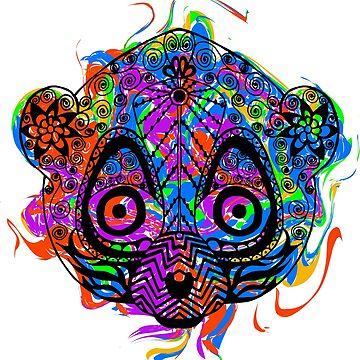 Colored hand drawn lemur by palomita222