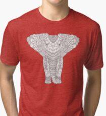 Fancy hand drawn elephant head. Tri-blend T-Shirt