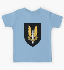 Special Air Service (Gold - Black Shield) Kids Tee
