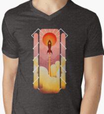 Rocketship Mens V-Neck T-Shirt