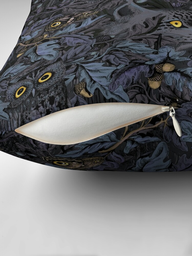 Alternate view of Fit In (moonlight blue) Throw Pillow