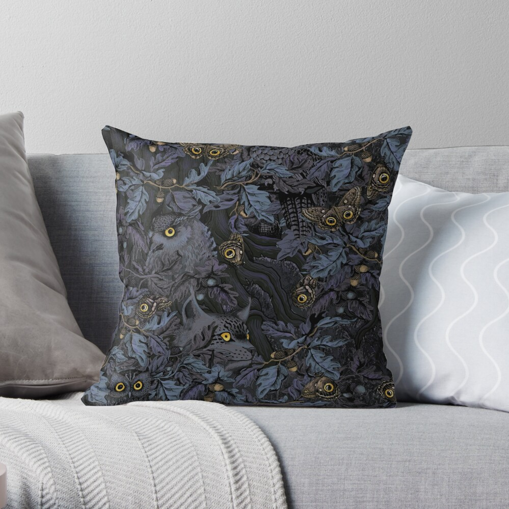 Fit In (moonlight blue) Throw Pillow