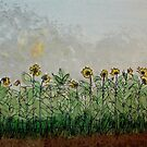 Dan's Sunflower Field by dkatiepowellart