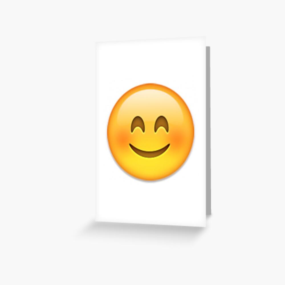 Blushing Emoji Grußkarte