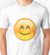 Blushing Emoji Unisex T-Shirt