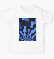 Black and Blues, bricks pattern Kids Clothes