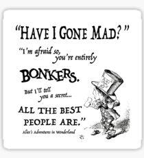 Alice in Wonderland Quote Sticker