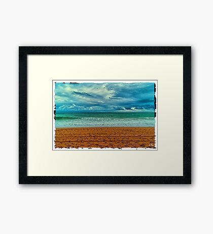Sea Canvas Framed Print