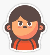 Mini Characters - Angry Girl Sticker