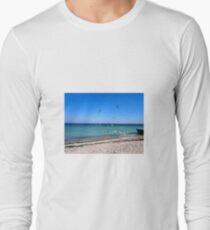 A flock of seagulls on a September day Long Sleeve T-Shirt