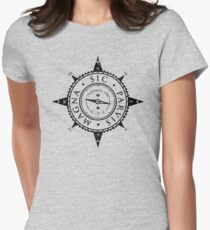 Uncharted Adventure (black) Womens Fitted T-Shirt