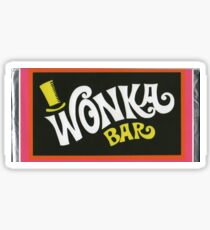 Willy Wonka Chocolate Bar t-shirt Sticker